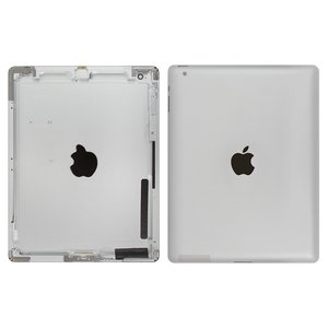 Back Cover for Apple iPad 2 Tablet, (silver, (version Wi-Fi))