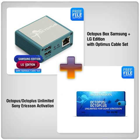 Octopus Box Samsung + LG Edition with Optimus Cable Set ( 19pcs  ) +  Octopus Unlimited Sony + Sony Ericsson Activation