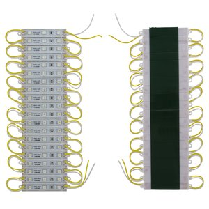 LED Strip Module 20 pcs. SMD 5050 (3 LEDs, yellow, adhesive, 1200 lm, 12 V, IP65)