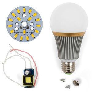 LED Light Bulb DIY Kit SQ-Q23 9 W (warm white, E27), Dimmable