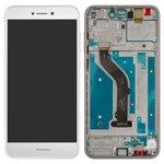 LCD compatible with Huawei P8 Lite (2017), P9 Lite (2017), (white, with touchscreen, with frame, Original (PRC), PRA-LA1, PRA-LX2, PRA-LX1, PRA-LX3)