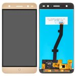 LCD ZTE Blade V7 Lite, (golden, with touchscreen, Original (PRC))