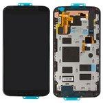 Pantalla LCD para celulares Motorola XT1092 Moto X (2nd Gen), XT1093 Moto X (2nd Gen), XT1094 Moto X (2nd Gen), XT1095 Moto X (2nd Gen), XT1096 Moto X (2nd Gen), XT1097 Moto X (2nd Gen), negro, con marco, con cristal táctil, original (vidrio reemplazado)