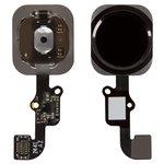 Шлейф для мобильных телефонов Apple iPhone 6, iPhone 6 Plus, кнопки Home, черный, с пластиком