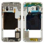 Средняя часть корпуса Samsung G925F Galaxy S6 EDGE, белая