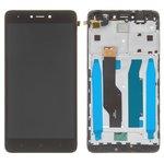 Дисплей Xiaomi Redmi Note 4X, черный, с сенсорным экраном, с рамкой, Original (PRC), Snapdragon, BV055FHM-N00-1909_R1.0