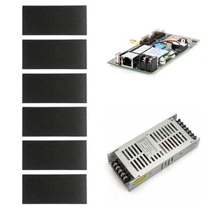 Комплект для збирання LED-дисплея для реклами (RGB, 960 × 320 мм, контролер, блок живлення)